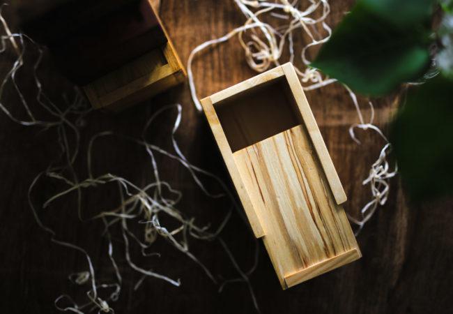 light wooden box